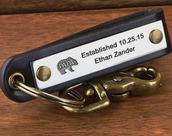Personalized Dad Keychain, Father's Day Gift, New Dad Keychain, Personalized Dad Gift for Fathers Day | ANY TEXT up to 35 chars, Made in USA