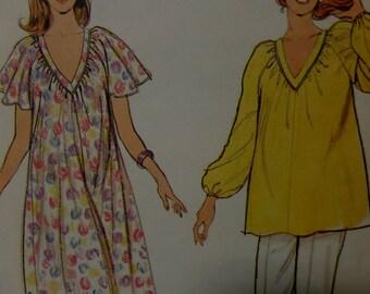MATERNITY MUU MUU Pattern • Butterick 3682 • Miss 8-12 • V-Neck Maternity Tunic • Maternity Dress • Maternity Patterns • WhiletheCatNaps