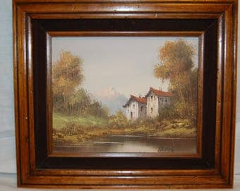 "Signed Original Oil ""Hideaway"" Registration Number 3-36167 Robert Sills Gallery Professionally Framed dated 1983, Signed 'RECCO'"