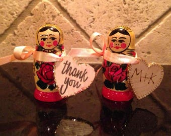 WEDDING, Event, Birthday Party FAVORS.  Authentic Original Matryoshka Nesting Dolls  Crafted on wood in Russia. Discount on big orders.