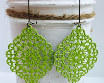 New ** LIMITED EDITION Color **CITRON** All Earrings Available in this Color - Ultra Lightweight - Great for Gifts (17 Earring Choices)