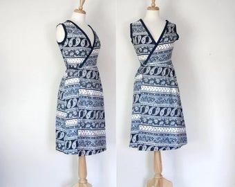ON SALE 70s Paisley Wrap Dress