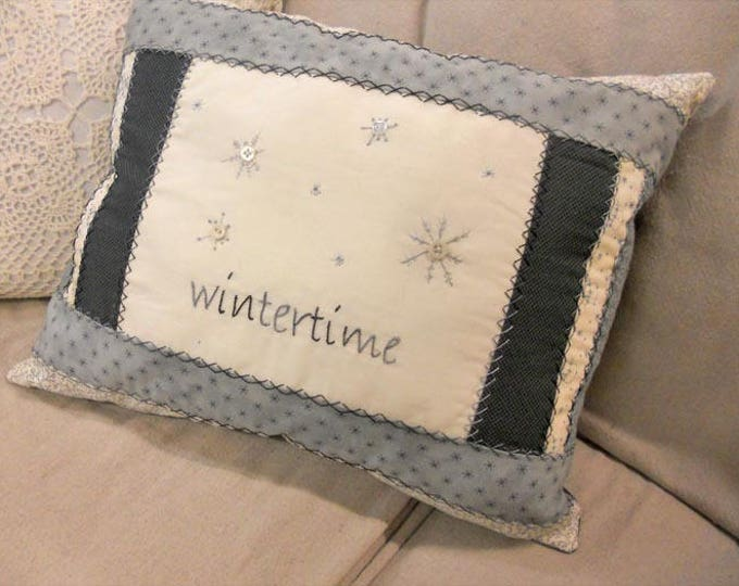 Wintertime pillow kit...designed by Mickey Zimmer
