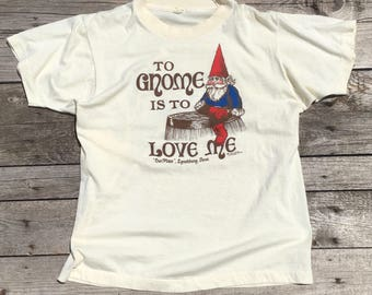 LRG | 1980's Vintage Souvenir Tee Gnome T Shirt Lynchburg, TN