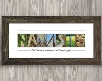 Namaste, Namaste Sign, Namaste Decor, Namaste Wall Art, Yoga Decor, Yoga Gift, Yoga Studio Decor, Yoga Wall Decor, Boho Decor, Yoga Lovers