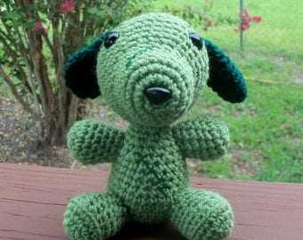 Christmas In July Sale Frankenpuppy - Crocheted Puppy Ready For Halloween (finished doll)