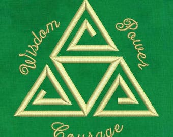Zelda Machine Embroidery Design - Triforce 4x4