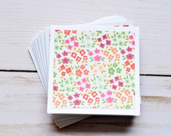 Tiny Flower Mini Cards // Set of 4 // Blank Cards // Gift Card Envelope // Love Note // Jouraling Card // Scrapbooking // Enclosure Card