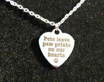 Pet Memorial, Dog Memorial, Pet loss Gift, Pet Memorial Jewelry, Pet Memorial Necklace, Pet Remembrance, loss of pet, memorial necklace