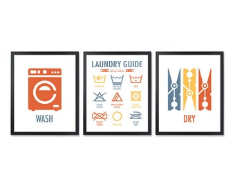 Printable Laundry Signs Cheat Sheet Instructions Wash Care Symbols