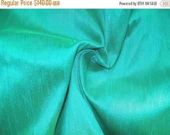 15% off on Wholesale fabric 10yards of 100 Percentpure dupioni silk in Aqua blue