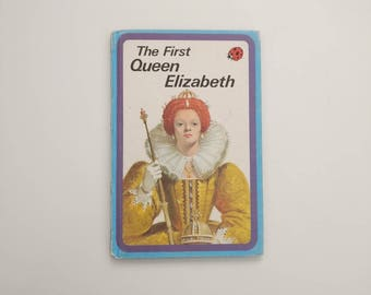 Queen Elizabeth I Notebook - Handmade from a vintage Ladybird book Tudors