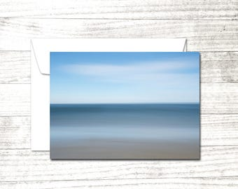 Ocean Shore Note Card | impressionist photograph | Greeting Card | Card for beach lover | Beach House Thank You