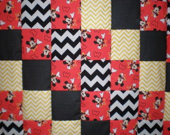 Mickey Mouse Patchwork  Quilt