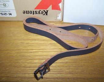 Vintage Keystone Movie Camera Leather Strap