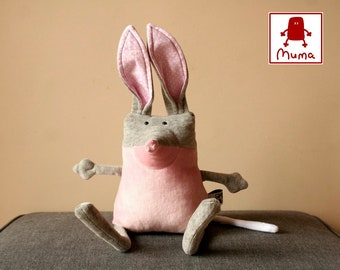 Muma Bilby Plushie, Little Pocket Marsupial Stuffie Toy, Funny Australian Easter Bunny Pocket Plush