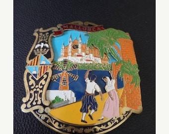 30% OFF SALE Vintage Mallorca Car Emblem Enamel Metal Auto Accessory Spain Car Badge