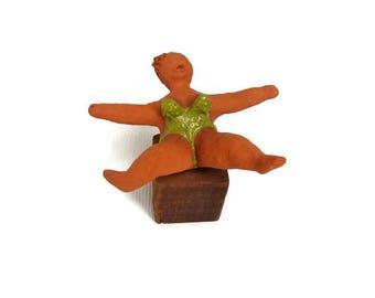 Clay figurine ceramic woman ceramic sculpture ceramic statuette ceramic figurine female sculpture clay sculpture woman valentines gift