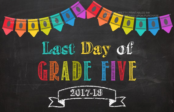 Last day of school sign instant download, last day sign ...