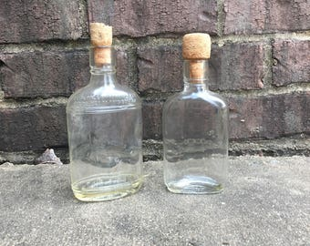 Old Glass Liquor Bottles