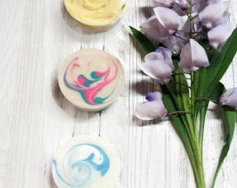 Shampoo Bar Sample Set, Sulfate Free Shampoo, Set 6, Coconut, Thai Dragonfruit and Black Raspberry