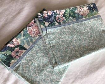 Vintage Pillowcases, Handmade, Floral, Glamping