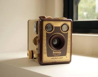 vintage kodak brownie model f camera