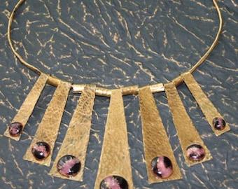 Enchanting purple enamel necklace