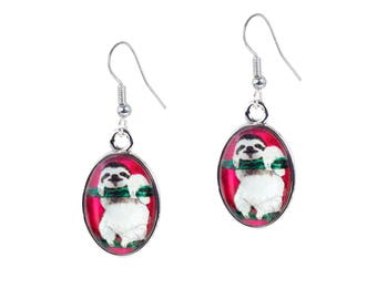 Sloth Earrings - From My painting, Leisurely Life by Salvador Kitti