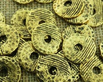 Antique gold buttons