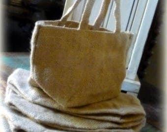 SALE Burlap Bag with Handle  Favor Bags Gift Bag  DIY Party