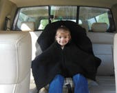 Double Knit Car Seat Poncho in sizes 12mths to 5T Custom Order, Poncho