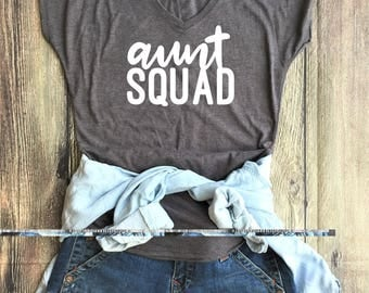 Aunt Squad shirt // Aunt Tribe, BAE, Favorite Aunt, Auntie to be, best aunt ever, best auntie gift, auntie to be