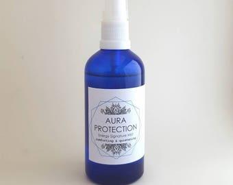 Aura Protection Mist - Energy Signature Potion -  Lavender, Vanilla & Rosewood - Fringed Violet Bush Flower Essence