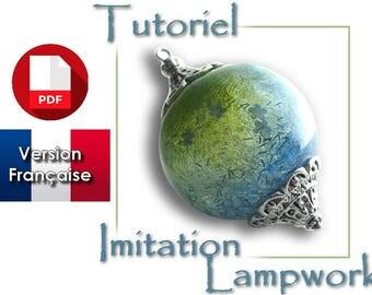 Tutoriel PDF en français : réaliser une perle creuse effet lampwork en polymère