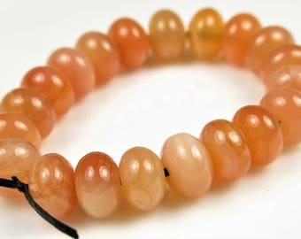 Sweet ~ Luscious Carnelian Smooth Rondelle Bead - 7mm x 5mm - 20 beads - B7264