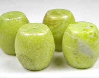 Lemon Jade Large Barrel Beads - 18mm x 18mm - 4 Pieces - B7305
