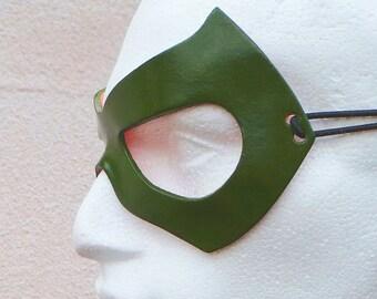 Green Arrow Mask Cosplay Costume Fancy Dress Oliver Ollie Green Cosplay costume Fancy Dress