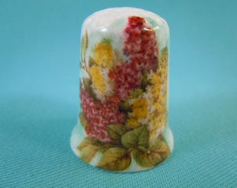 Thimble Bone China  with Lilac Flowers