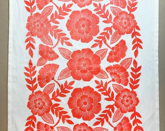 Organic Cotton Floral Tea Towel