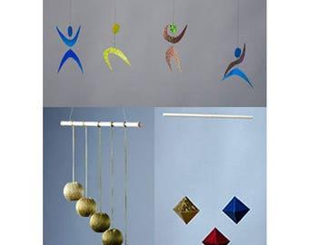The Octahedron, Gobbi, and  Dancer Montessori Mobiles (set of 3)