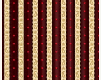 20 % off thru 7/4 LIBERTYVILLE  red cream tan flag STRIPES  Henry Glass 8708-48 by the Half yard Color Principle Americana patriotic quilter