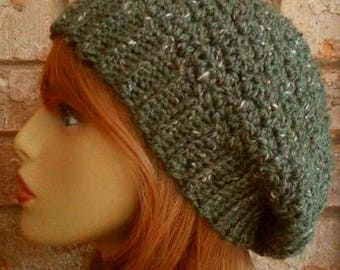 Slouchy Hat Slouchy Hat Alpaca Slouchy Hat Crochet Slouchy Hat Womens Slouchy Hat Beanie Slouchy Hats Slouchy Hat Crochet Slouchy Hats Green
