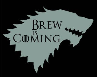 Black Brew Is Coming Coaster