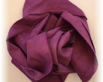 Hand Dyed Cotton Ribbon / Seam Binding 2 Yards Berry