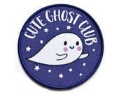 Patches - Ghost Patch - Iron On Patch- Embroidered Patch - Cute Kawaii Patches - Ghost Patch - Jacket Patch- Stocking Fillers
