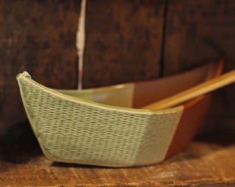 Dory Dip Boat in Apple Cross by Village Pottery PEI