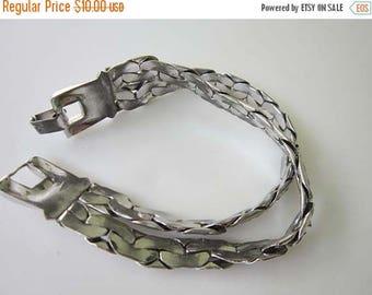 50% OFF Silver tone Metal Link Design Bracelet