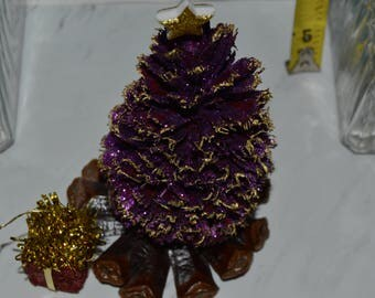 mini pine cone craft tree handmade unique real looking xmas pine tree with oil fragrance keep - Real Looking Christmas Tree