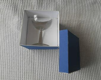 VintageChampagne Glass Coupe Cocktail dessert Glass Boxed 18th 21st Brithday Glass